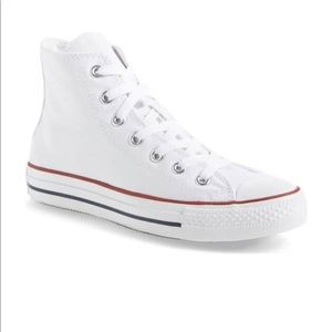 White Converse High Top Sneakers
